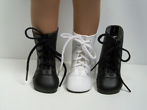 """BLACK Lace Up Boots Doll Shoes Fits 16""""- 17"""" Sasha (Debs)"""