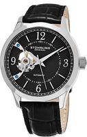 Stuhrling Men's Automatic Wind Open-Heart Watch Genuine Leather Strap 987.02