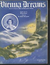 Vienna City of Dreams 1937 Kitty Carlisle Wien du Stadt Meiner Sheet Music