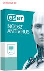 Eset NOD32 Antivirus 3 PC 1 Anno Licenza digitale
