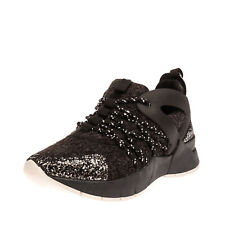 RRP €105 GIO CELLINI Sneakers Mismatch Size L 38 R 39 Glitter Thick Sole Lace Up