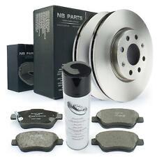 Bremsscheiben 257mm + Bremsbeläge vorne + Bremsenreiniger Opel Adam Corsa D