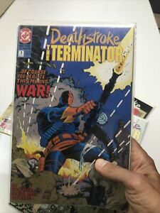 Deathstroke The Terminator 4 Book Lot (DC, 1991-93) Annual #1, Romita Jr Variant