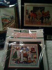 LOT OF 3 Counted Cross Stitch Kits~Christmas~Irish Blessing~Ballet Dancers NEW