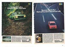 OPEL ASCONA B --- Historische Reklame --- vintage adverts  - KONVOLUT - LOT -
