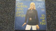 France Gall - Zwei Verliebte zieh'n durch Europa 7'' Single SUNG IN GERMAN