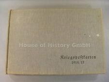 """1696, Großes leeres Fotoalbum / Postkartenalbum """"KRIEGSPOSTKARTEN 1914/15"""""""