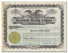 Gloversville Knitting Company Stock Certificate