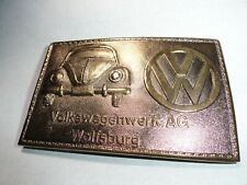 VINTAGE VOLKSWAGENWERK AG BY WYOMING STUDIO ART WORKS BRASS TONE VERY NICE
