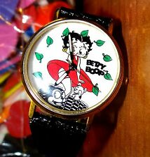 Vintage 1992 Rebuilt Betty Boop Watch  Eyes Moving Up & Down to the Seconds Beat