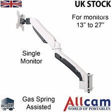 GSA21DS Gas Spring Monitor Arm Toolbar / Desk Stand Mountw/ Adjustable Height