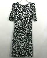 Nic+Zoe Womens Crew Neck Short Sleeve Pull Over Dress All Over Print Size Small