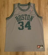 Vintage Nike Boston Celtics Paul Pierce Swingman Retro Jersey Mens XL Grey