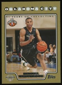 2008 Topps Gold #199 Russell Westbrook Thunder RC Rookie /2008