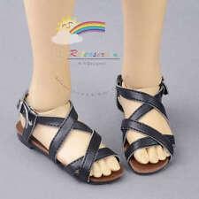 Faux Leather Straps Sandals Shoes Black For Rainy Girl/SD13 Boy BJD Dolls