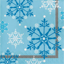 Snowflake Lunch Napkins [16ct] Frozen Winter Party Supplies Tableware