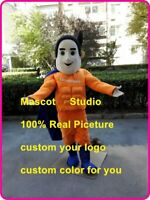 Superman Mascot Costume Suit Cosplay Party Game Dress Outfit Halloween Adult