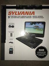 "New Portable DVD Media Player Sylvania 9"" Swivel Screen Remote Earphone Car Cabl"