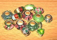 SET OF EUROPEAN CHARM BEADS MURANO GLASS MIX5