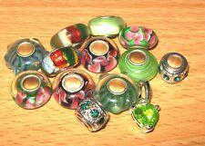 SET OF EUROPEAN CHARM BEADS MURANO GLASS MIX5