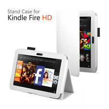 White Folio Leather Case for Kindle Fire HD 8.9