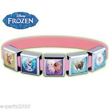 FROZEN ROXO SMALL Pink SILICONE BRACELET (5 Charm) ~ Birthday Party Supplies