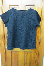 LACE CAMISOLE & TANK BLOUSE by BEDFORD FAIR-- LARGE