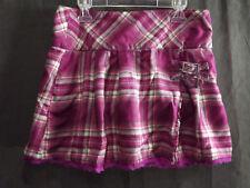 Justice Girls Skort Purple Green Plaid Size 14 W/ Buckle Ruffled Hem