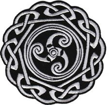 Celtic Knot Embroidered Patch / Iron On Applique, Tribal Pattern, Tattoo Style