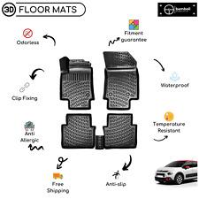 Custom Molded Rubber Floor Mat for Citroen C3 Aircross Suv 2017-Up (Black)