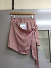 Missguided Wrap Anteriore Pantaloncini SETA (T48) rrp £ 20,00 UK 10 Lilla