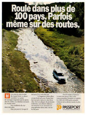 1989 ISUZU Trooper II LS Vintage Original Print AD - White car in river photo