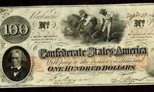 CS-41. $100 1862 Confederate States of America ** MORE PAPER CURRENCY FOR SALE