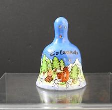 "Vintage Ceramic Bell Colorado Bear Tree Mountain Flower About 4 3/8"" Y32"