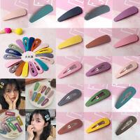 Fashion Women Acrylic Hair Clip Snap Barrette Stick Hairpin Hair Accessories New