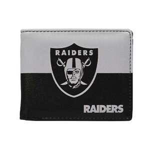 Las Vegas Raiders Logo NFL Men's Printed Logo Leather Bi-Fold Wallet