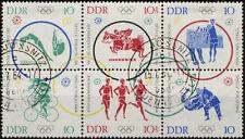 1964, 6er-blocco Olimpo. giochi estivi (MiNr. 1039/44) con timbro locali-obliterazione