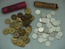 JAPAN ¥1 ONE YEN & ¥5 FIVE YEN COIN ROLLS LOT - 100  EACH - 4 UNSEARCHED ROLLS