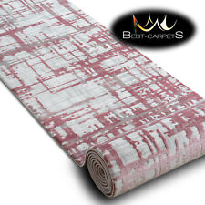 Modern Amazing very thick Runner Rugs 'DIZAYN' pink Width 80cm extra long