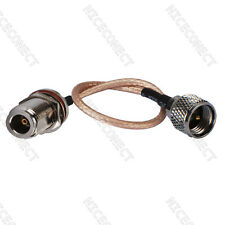 Mini-UHF male plug to N female jack bulkhead Coaxial Pigtail cable RG316 30cm