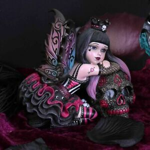Nemesis Now Little Shadows Lolita Figurine Gothic Fairy and Sugar Skull Ornament