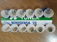 USED Yonex Aerosensa AS 10 Feather Shuttlecocks Excellent Condition 1 Dozen