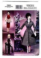 "Vogue 7601 Doll Collection MADRA Ashton Drake "" Circa 1950s "" Pattern New Uncut"