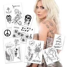 Lady Gaga Temporary Tattoos | Realist | Life-Sized | Skin Safe