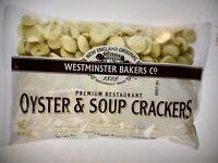 NEW ENGLAND ORIGINAL WESTMINSTER BAKER CO PREMIUM OYSTER CRACKERS 9 OZ (3 BAGS)
