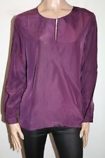 Unbranded Purple Long Sleeve Cross Front Blouse Top Size L BNWT #TR05