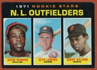 1971 Topps #728 Bernie Williams EX-EX+ Rookie Outfielders RC High Series