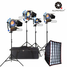 For Film Video 150W+300W*2+650W Tungsten Spot light+3stands+1softbox+case Kit