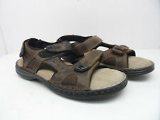 Fox Ridge Men's Leather Strap Sandal Brown Size 9M