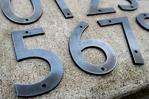Metal House Numbers | Modern Style | Home Address Raw Iron Steel Big Giant Huge